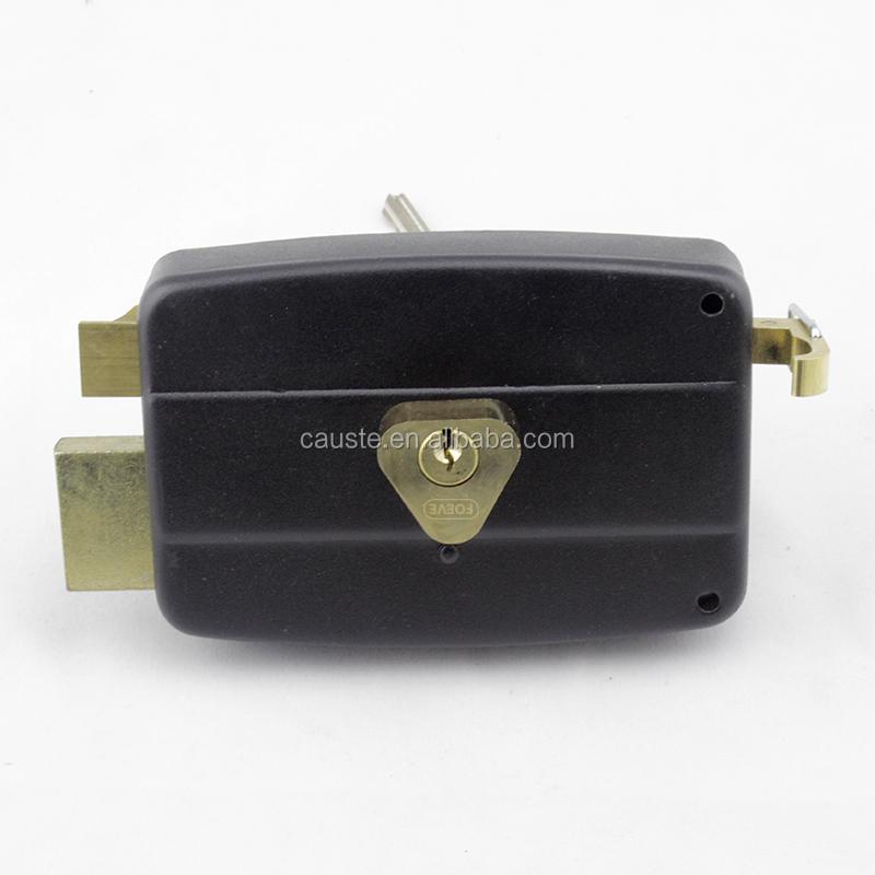 1 rod bolt rim locks black rim latch with locks brass rim lock door knob hardware
