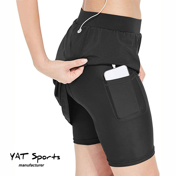 Custom Logo Women High Quality pocket inside cycling skirt with pad