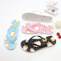 oem pvc sole private label slippers summer 2020 women embellished plastic printed container for slippers