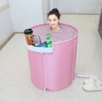 bathroom accessories folding portable camping bathtub 1 person hot tub for adults