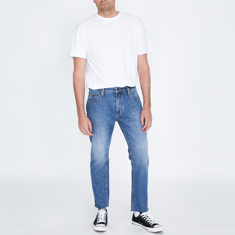 classic five pockets heavy weight long vintage mens denim jeans