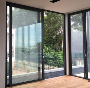 Aluminum glass sliding door design double track safety hardware material for balcony usage in modern villa