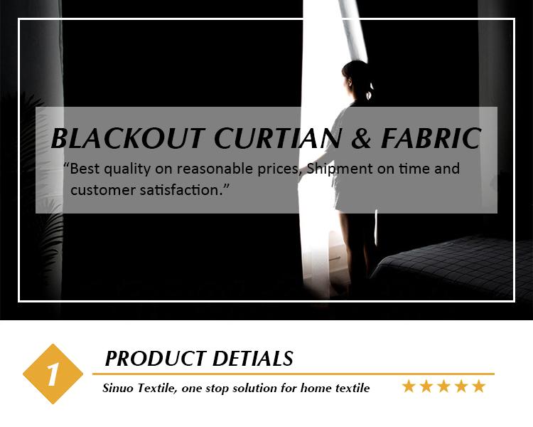 Ready Made ผ้าม่าน Blackout Triple ทอ 100% โพลีเอสเตอร์ผ้าม่านสำหรับห้องนั่งเล่น