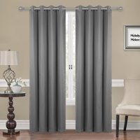 Solid Thermal 100% Blackout Window Curtain Panels Heat and Full Light Blocking Drapes Black Liner curtain for the living room