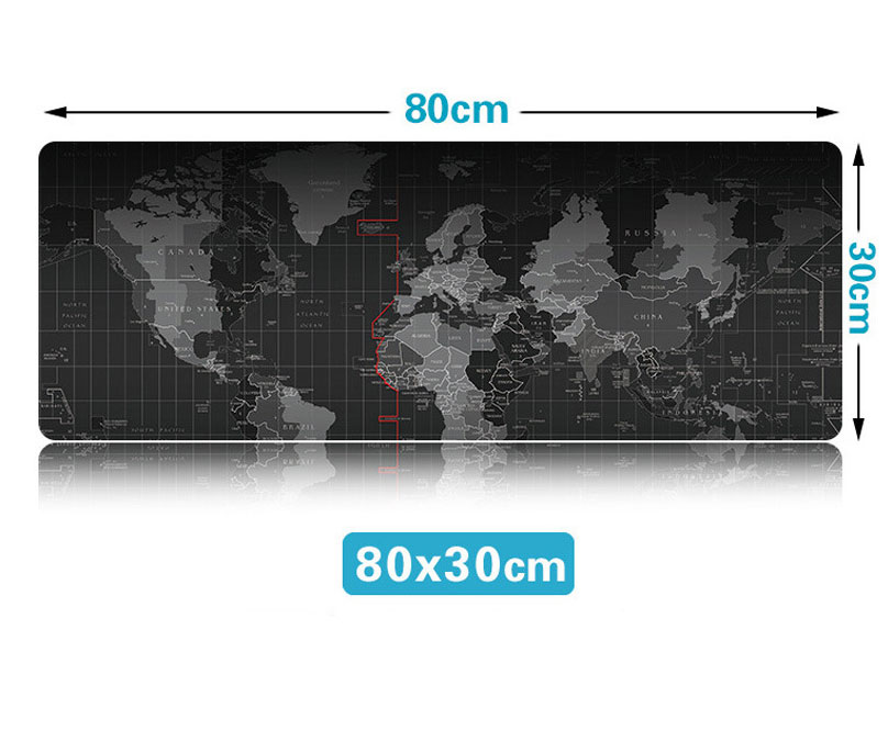 30*80CM 게임용 Mousepad 안티-슬립 천연 고무 매트 가장자리 대형 게임 마우스 패드