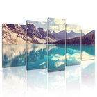 Beautiful Lake Canvas Wall Art for Modern Bathroom Wall Decoration Mountain and Forests Oil Painting Framed