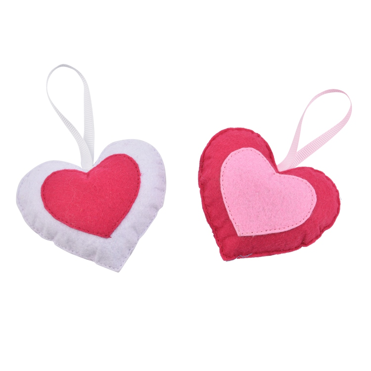 Wholesale Cheap Heart Shaped Perfume Hanging Home Lavender Fragrance Felt Scented Sachet For Car