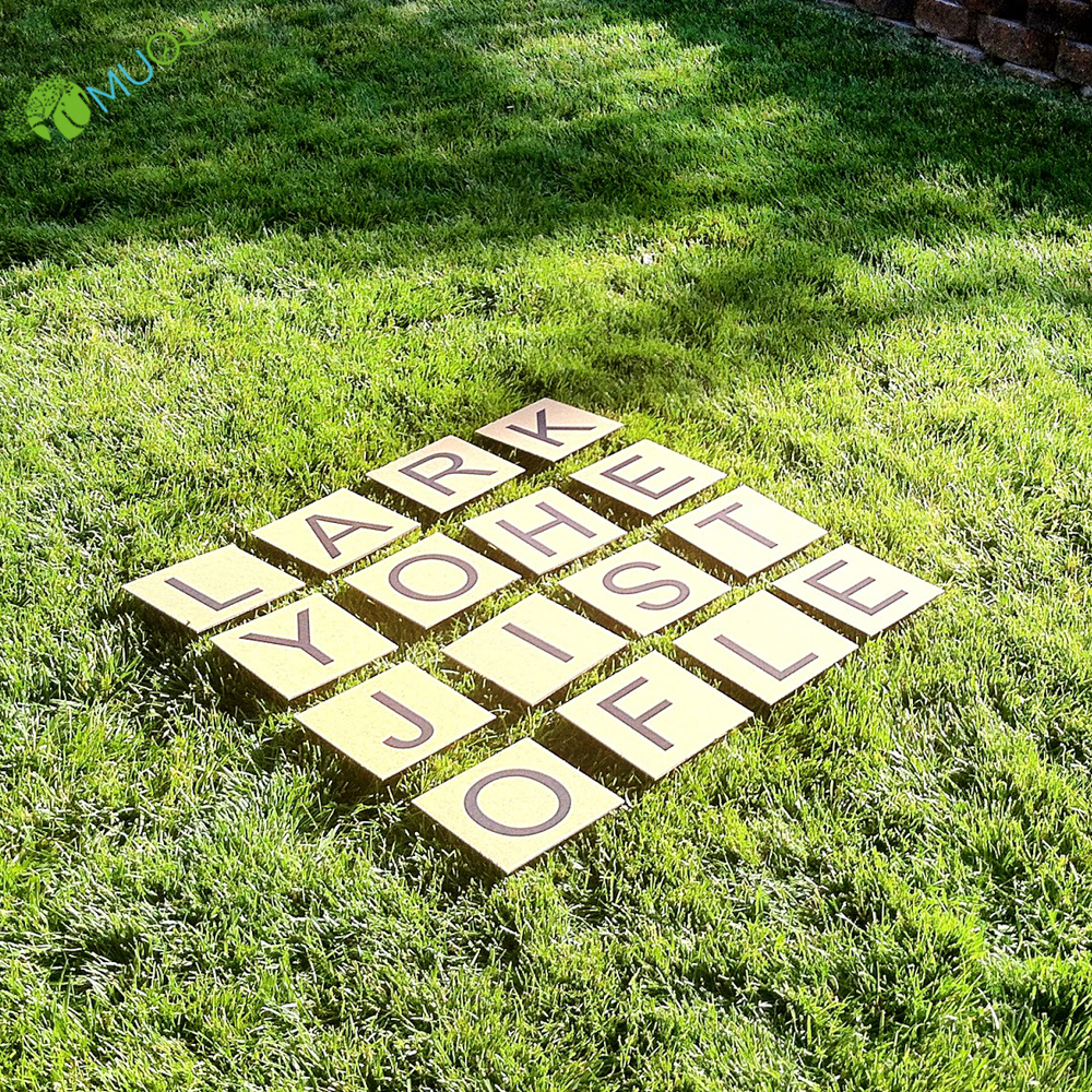YumuQ Giant Wooden Wood Yard Scrabble Tiles Letters, 100 Pack for Scrabble Yard Lawn Games
