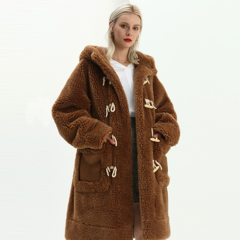 Winter coat custom faux fur coat popular and fashion adult clothes