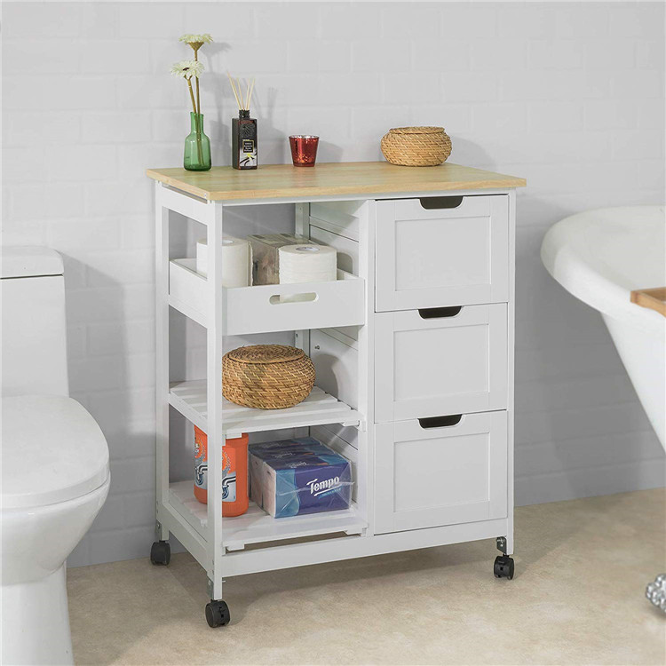 Multifunctional 2 Tier Classic Kitchen Cart