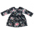 Wholesale fashion Baby girls flower kids cotton knitted long sleeve vintage style dresses