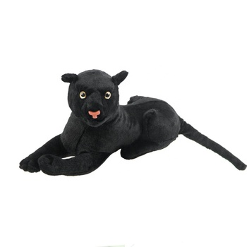 Black Panther Stuffed Plush Toy Big Panther Dolls Real Life Leopard Plush Dolls Animals Very Soft Good Quality