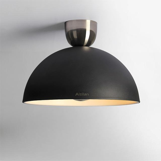 Aisilan 실내 침실 6 W 장식 블랙 현대 라운드 led 천장 램프
