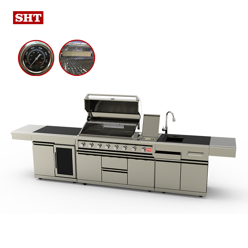 Luxurious Stainless Steel Gas Bbq Grill