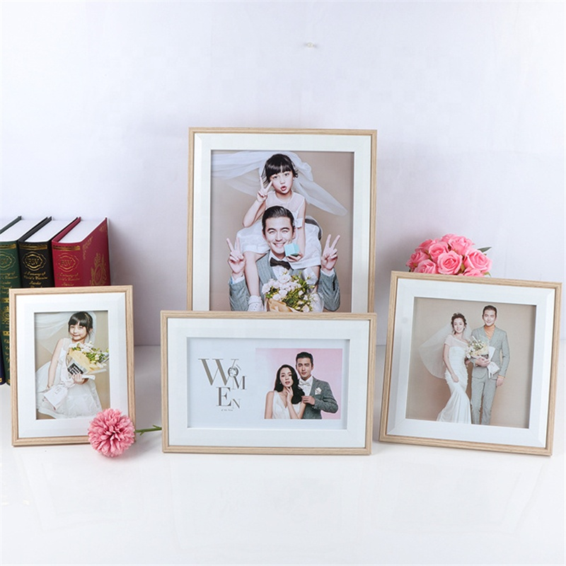 6 7 8 10 inches Quadrate Beautiful Girl Acrylic Ps Mouiding Baby Wood Wedding Photo Frame