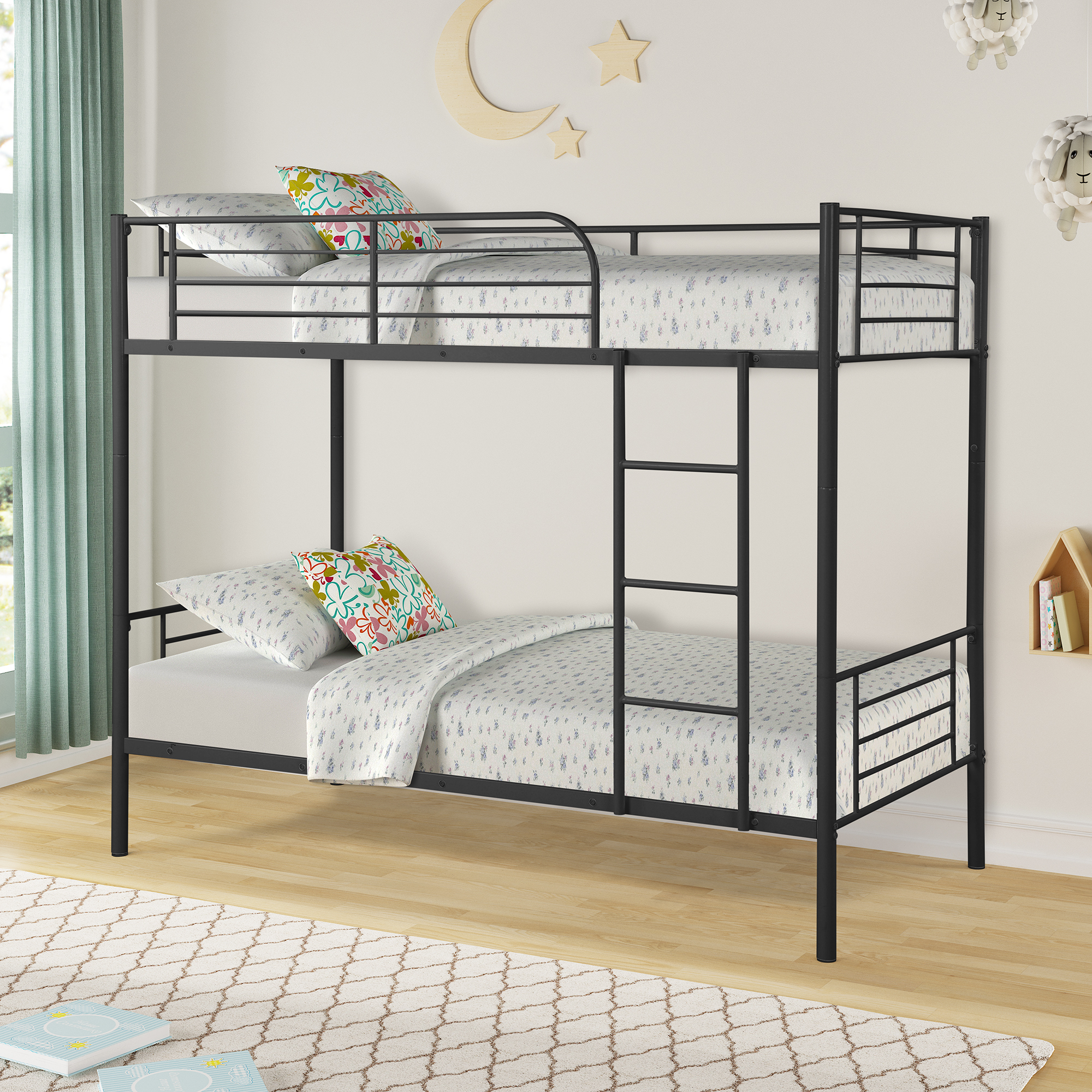 free sample cheap price wholesale New design steel double decker queen size Good quality heavy duty steel metal bunk bed