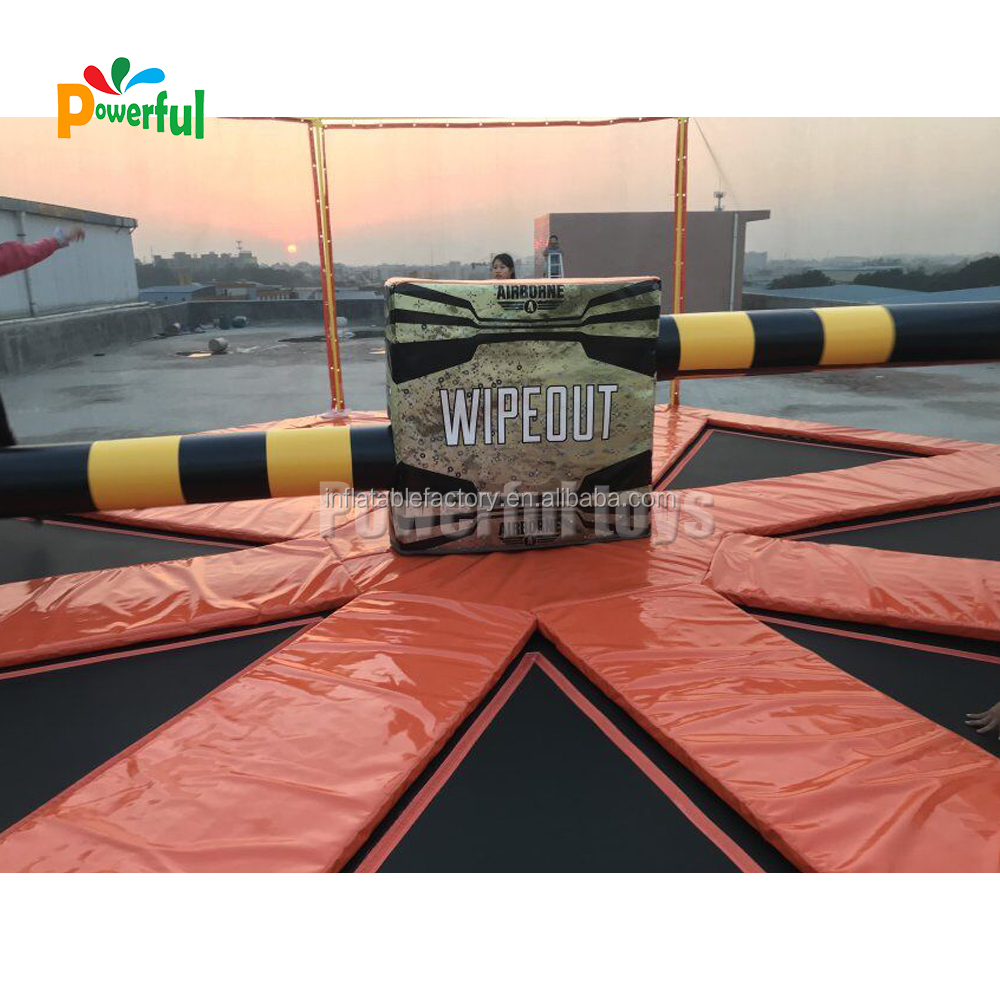 8m diameter inflatable mechanical wipeout sport game