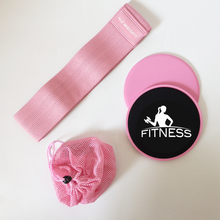 Rosa Exercise Set Resistenza Hip Band e Core Cursori