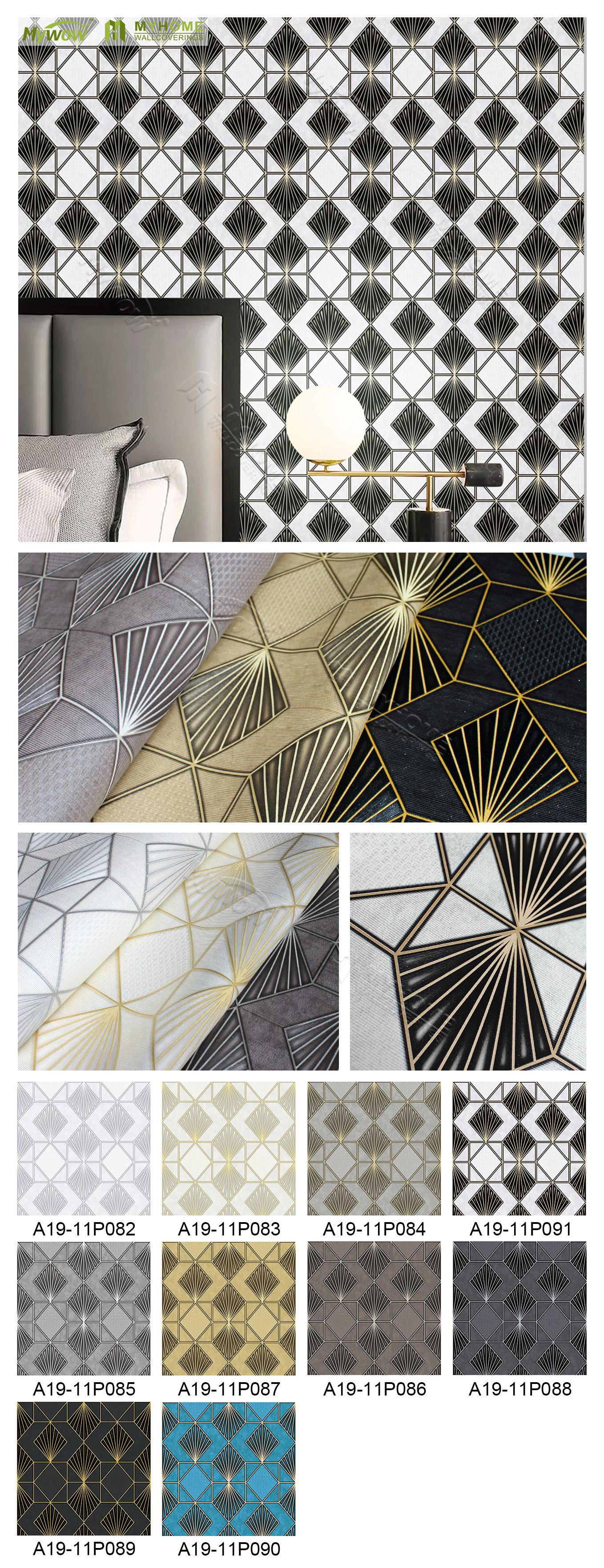 Good price living room royal wallpaper modern damask design vinyl wallpaper