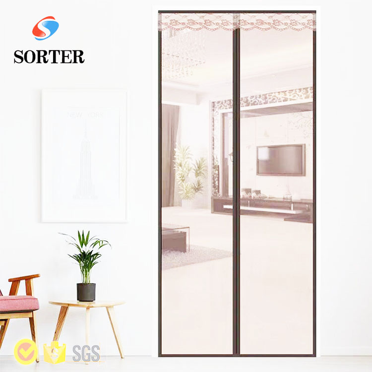 summer hot sell high quality magnetic mesh door curtain folding fly <strong>screen</strong>