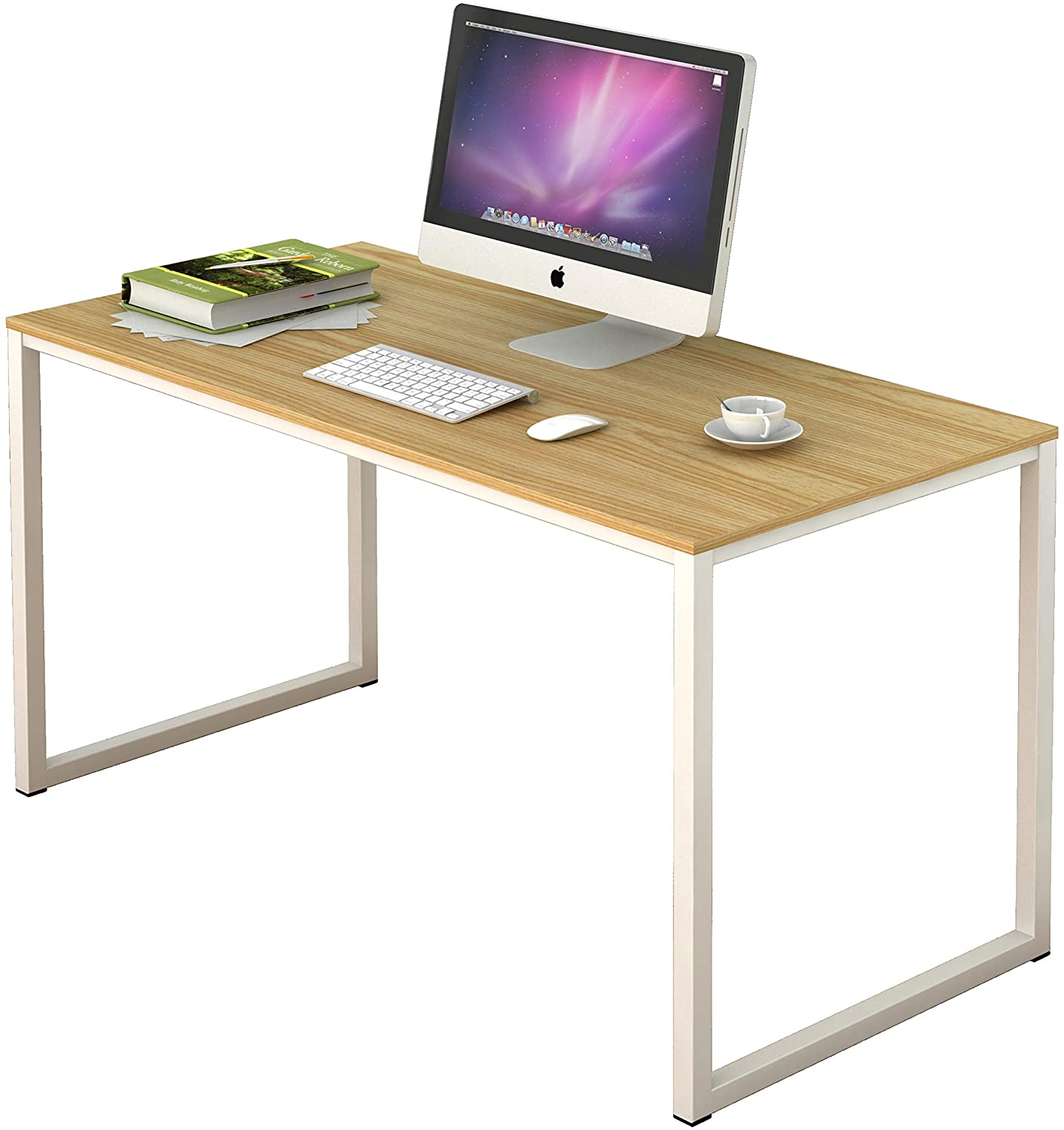 Hot Sale White And Oak Computer Desk Simple Design Writing Study Table For Home Office Buy Modern Expandable Computer Desk Staples Office Furniture Desks Steel Computer Desk Table Product On Alibaba Com