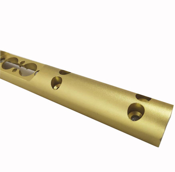 anodized aluminum extrusion profile/CNC machined aluminium profile accessory hole drilling