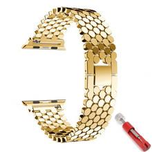 Ремешок для Apple watch band 4 5 iwatch 40 мм 44 мм ремешок 38 мм 42 мм correa apple watch 5 4 3 2 1 Аксессуары для браслетов из нержавеющей стали(Китай)