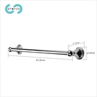 Modern Wall Mounted Bathroom Accessories Set Bath Hardware Towel Holder Standing Single Bar