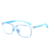 New stylish transparent color tr90 material kids glasses frames with blue block lens
