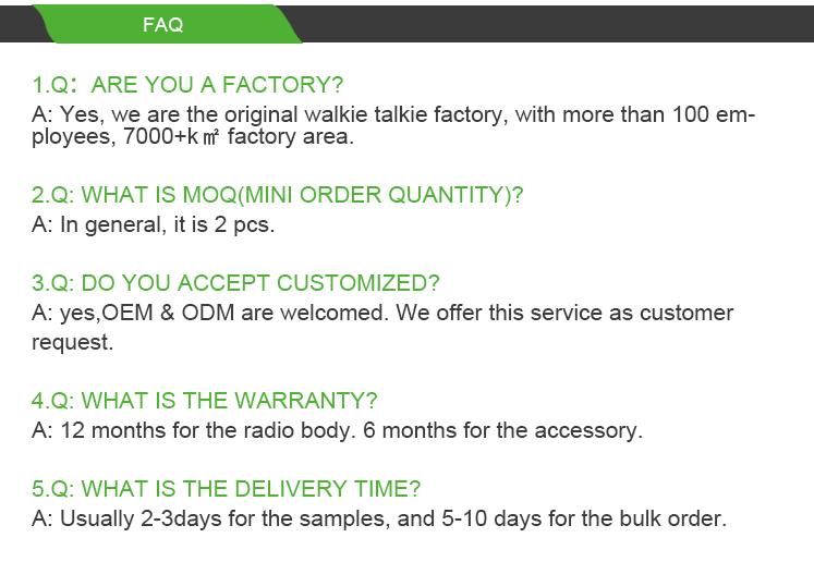 Wanneton Chine fabricant talkie-walkie de marque avec un prix bon marché