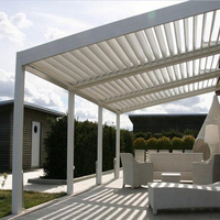 Customized aluminum pergola rainproof louver roof system