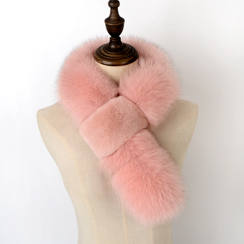 New product 2020 Authentic removable fox collars warm fur plush shawl