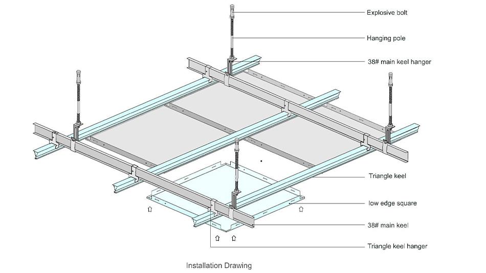 600x600 metal ceiling tiles equipment
