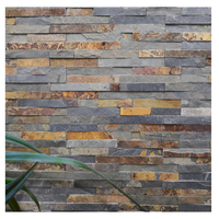 Chinese Rusty Tile Exterior Decoration Outdoor Veneer Panel Natural Ledge Stacked Culture Stone Sale Price Wall Cladding Slate