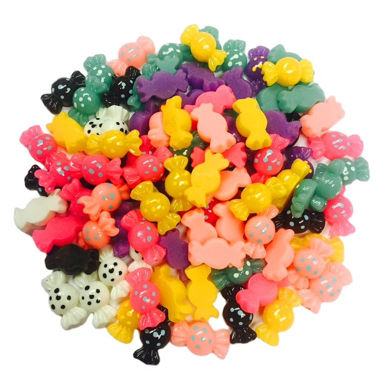 Cute 12mm Mini Candy Flatback <strong>Resin</strong> for DIY Hair Bow Accessories
