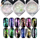 Nail Chameleon Pigment Best Price Color Changing Rainbow Irregular Transparent Nail Glitter Chameleon Flakes