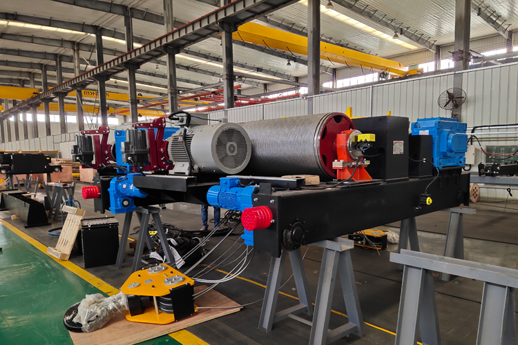 50/10 ton double girder crane winch trolley