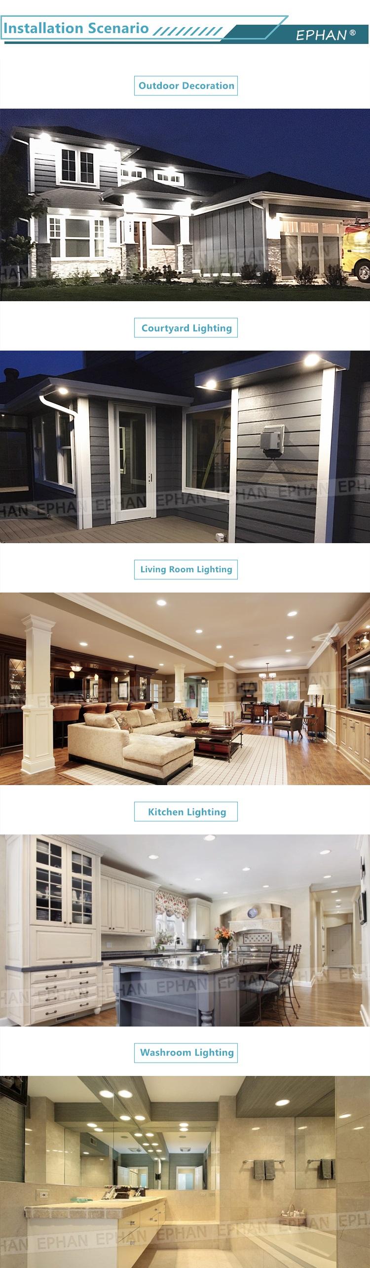 USA & Kanada Markt Heißer Verkauf 6'' 12 watt ETL LED Einbau Panel Licht