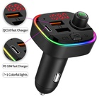 Bluetooth Mp3 Car LUTU Bluetooth Car Fm Transmitter Usb Mp3 Player With PD18W Fast Charger