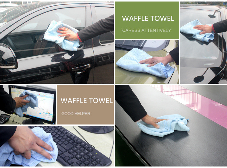 wholesale china products car care cloth microfiber fast drying towel pineapple waffle cleaning towel