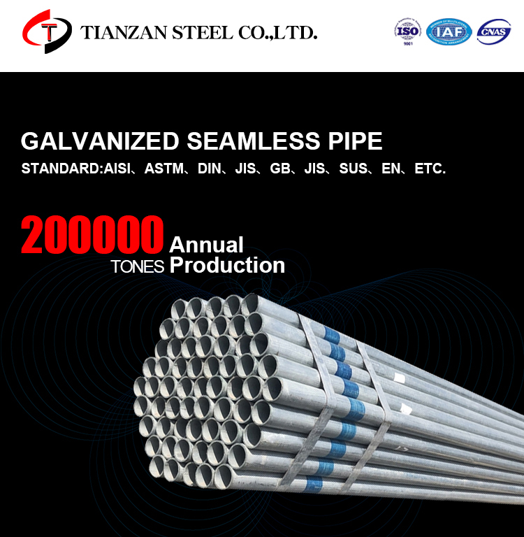 galvanized pipe for greenhouse zinc coated surface GI steel pipe price list tube