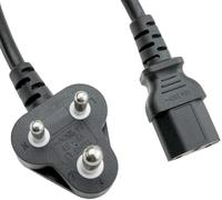 India Power Electric Plug With Power Cord South Africa 3 Pin Power Cable For Computer and Laptop