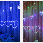 Fairy Led Light Modern 3m Romantic Fairy Heart LED String Light AC110V 220V Curtain Christmas Holiday Wedding Garland Party Decoration Lamp