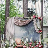 DIY made church or wedding stage photo background props