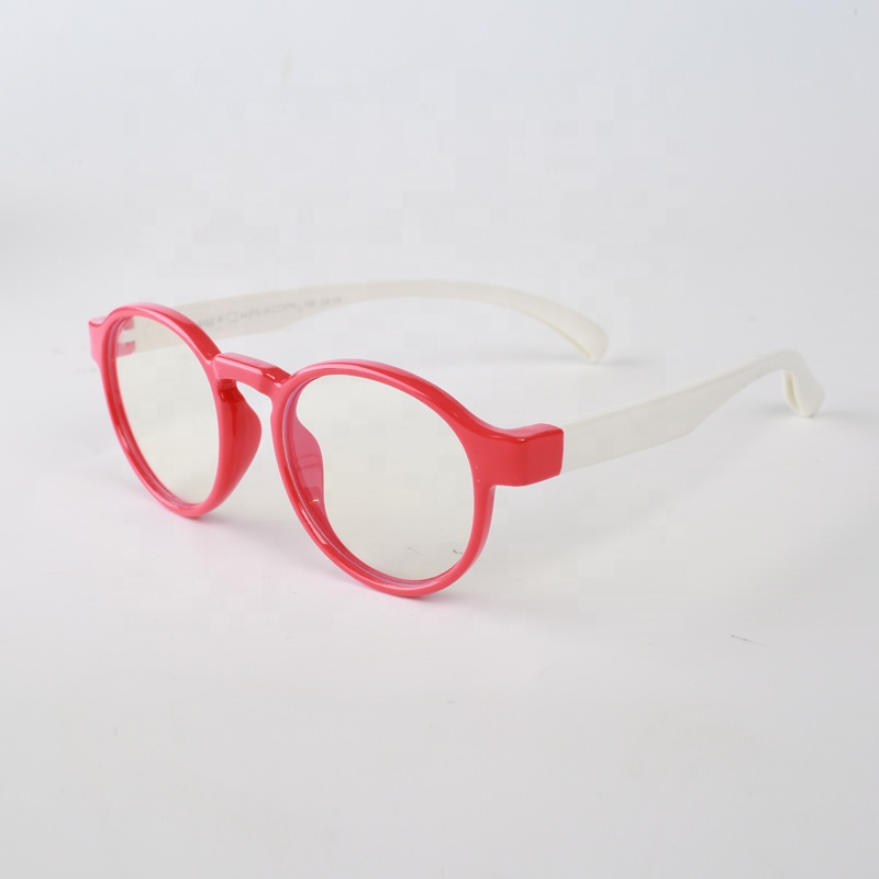 TPE-E bluelight blockieren Trendy Runde Brillen Nerd Brille Kinder