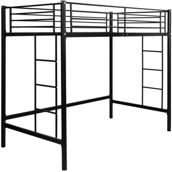 Twin Over Frame with Ladders Bedroom Fence Kids Teen Adults Twin Bunk Metal double Loft Bed Frame