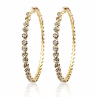 Rihanna Style nightclub shiny bright diamond earrings for women exaggerated large diamond hoop earrings
