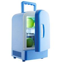 Мини портативный автомобильный холодильник 4L с одной дверью двойного назначения, холодильник с подогревом, холодильник с морозильной каме...(Китай)