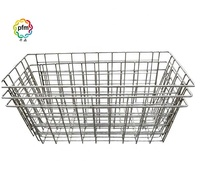 Stainless steel Bathroom rack Multi-function storage basket Kitchen vegetable and fruit storage basket