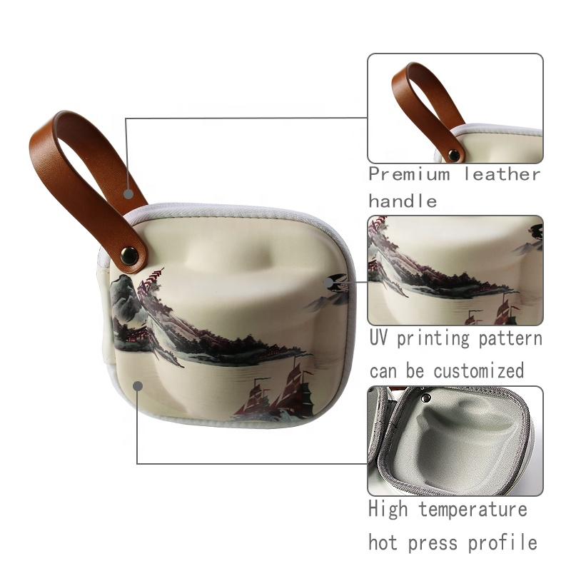 Portable Travel Tea Set 100% Handmade Chinese Japanese Kungfu Gongfu Tea Set EVA Case